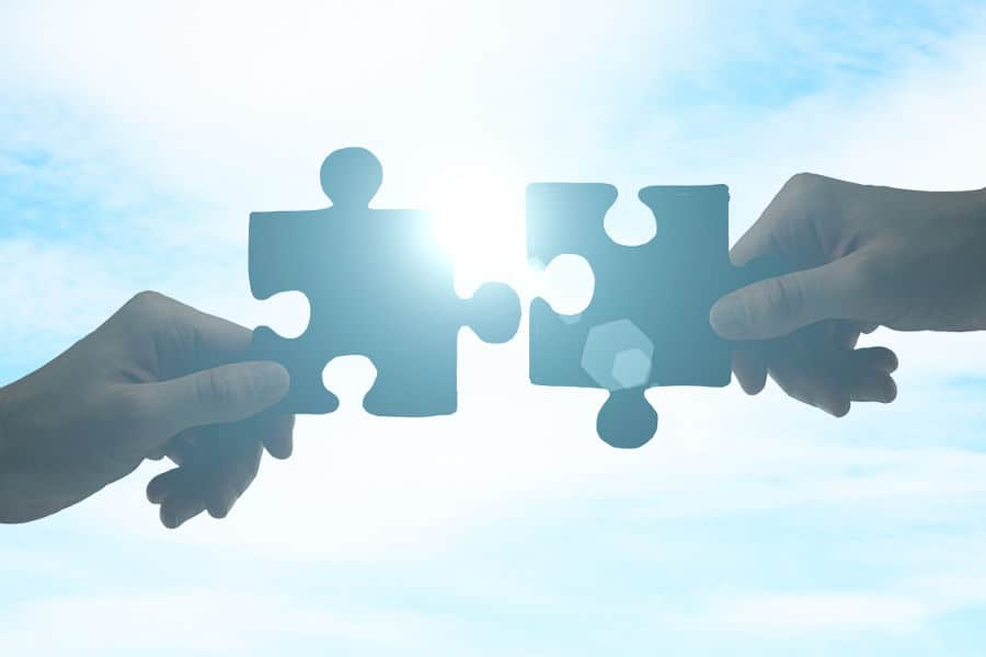 fitting together the puzzle pieces of a marketing plan