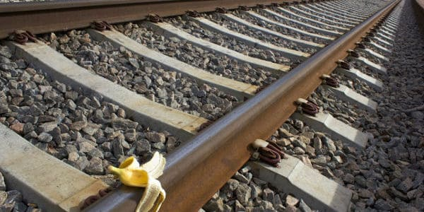 bannana peel on train tracks could derail the project