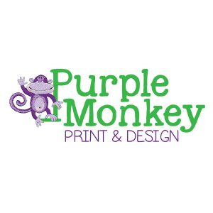 Purple Monkey Print and Design logo