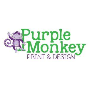 Purple Monkey Print and Design logo