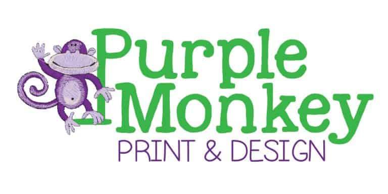 Purple Monkey Print and Design of Sarasota