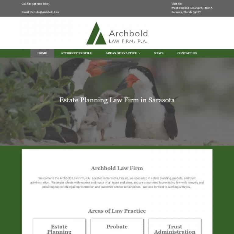 Sarasota Estate Planning Law firm website designed by Suncoast Web Marketing
