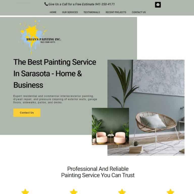 Website design for painting contractors