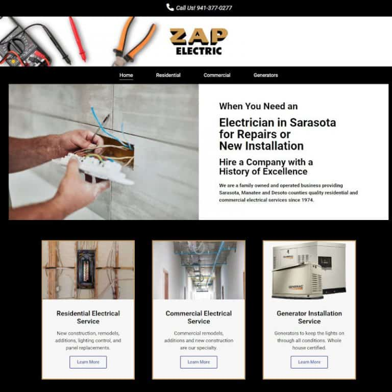 website for electrical contractor