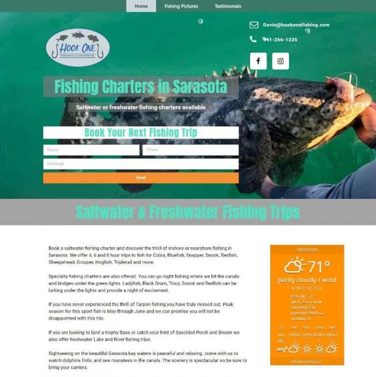 Sarasota charter fishing website