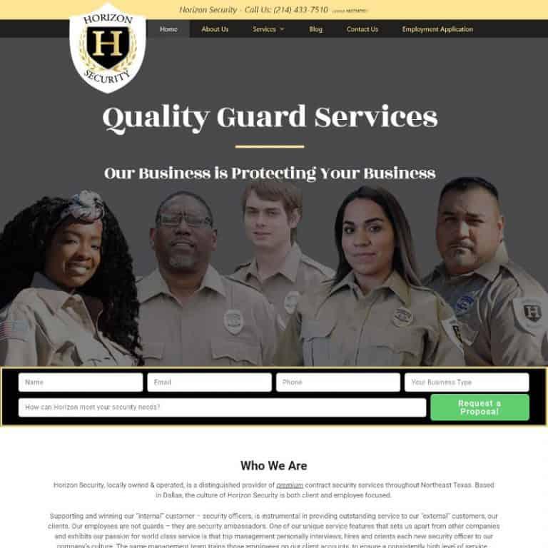 Dallas, Tx. security services website