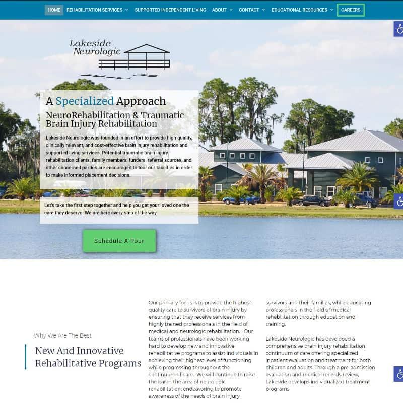 Website design for a rehabilitation hospital in Florida
